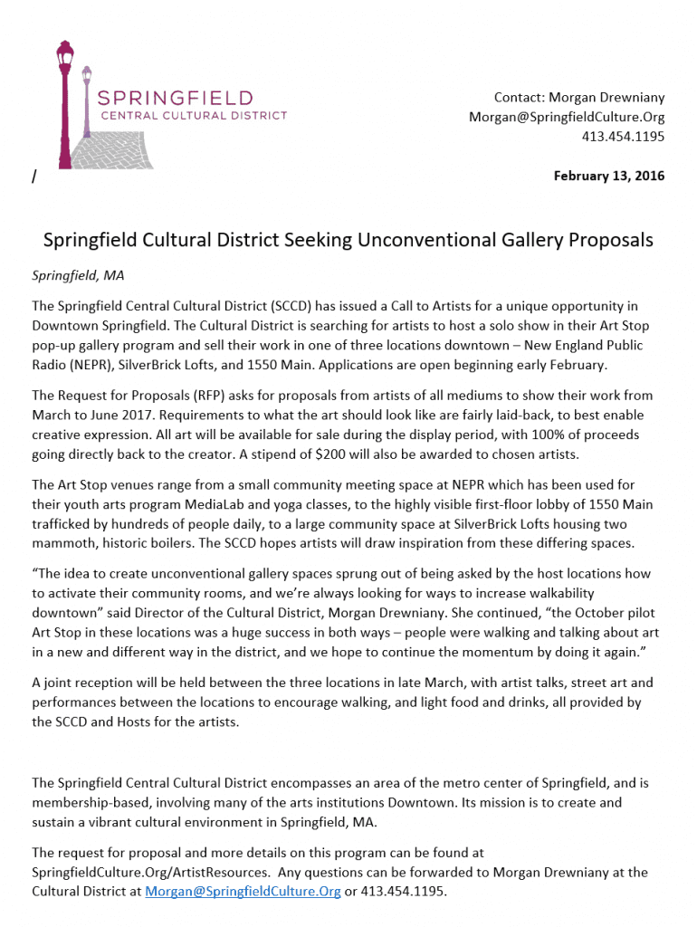 Springfield Central Cultural District – Call to Artists